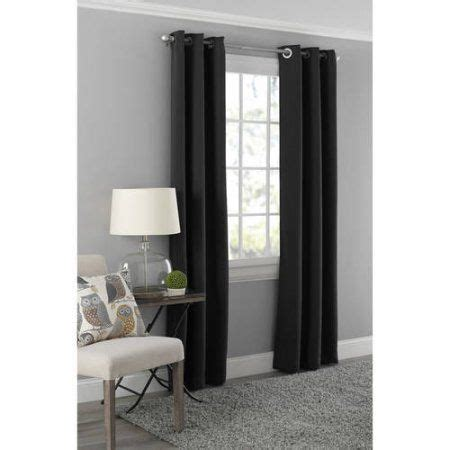 Absolute Zero Curtains 108 by Mainstays Blackout Energy Efficient Grommet Curtain Panel