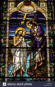 stained glass, stained glass window, The Baptism of Our ...