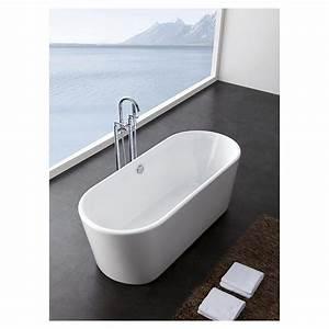 Jenna 59quot Small Soaking Bathtroom Tub Acrylic Construction