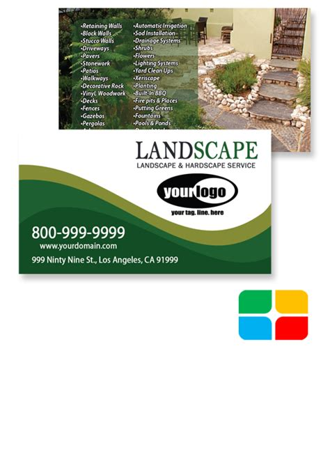 landscaping business cards templates service print ads