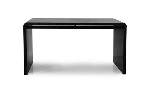 bureau design noir console design ou bureau laqué taupe noir ou blanc 140 cm