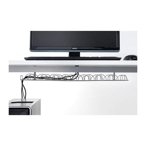 am駭agement bureau ikea signum cable management horizontal silver color