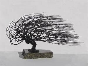 Buy A Handmade Windswept Wire Bonsai Tree Sculpture  Made