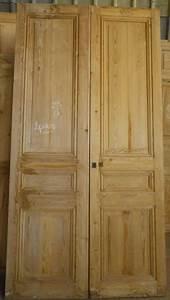Porte Intérieur Double Vantaux : c2v12 porte d 39 interieur 2 vantaux en pin ~ Melissatoandfro.com Idées de Décoration