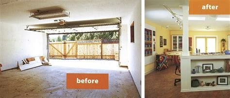 makeover  converting  garage   dream studio housing features pinterest photography