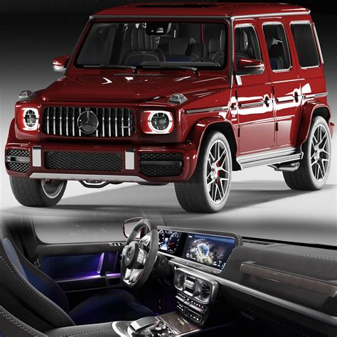 Brabus leather nappa cuoio brown engine: 3D Mercedes Benz G63 AMG 2020 | CGTrader