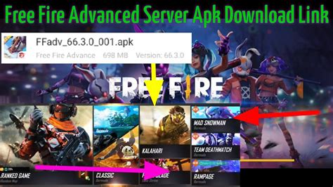 Free fire advance server website: Free Fire Advanced Server Apk Download Link How to Download