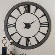 Wall Clocks Large by Ronan Rustic Bronze Large Wall Clock Uttermost Wall Mounted Clock Clocks Home