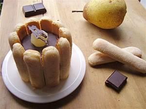 Recette Charlotte Poire Chocolat : mini charlotte poire chocolat toque de choc ~ Melissatoandfro.com Idées de Décoration