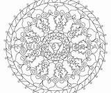 Coloring Chakra Throat Mandala sketch template