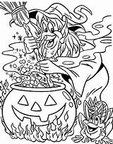 Coloring Halloween Witch Witches Adults Difficult Frog Soup Making Frogs Adult Printable Hard Fall Getcolorings Spooky Sheet Colour Tocolor sketch template