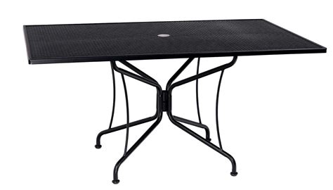 woodard wrought iron 84 x 42 rectangular 8 spoke table