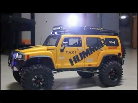 rc scx chassis lift hummer   youtube