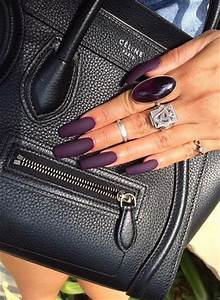 Nails, Matte nails and Purple on Pinterest