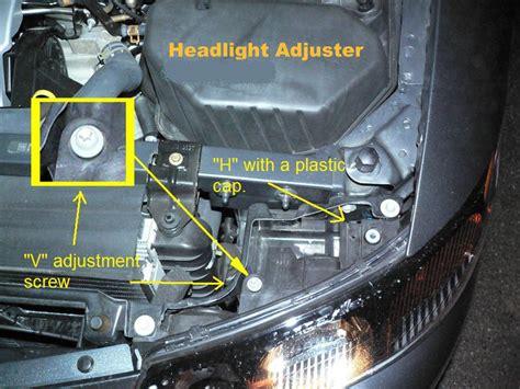 bonneville headlight headlamp adjustment aim