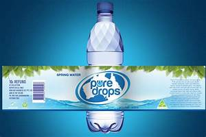 designcontest pure drops spring water 1 With bottle label design software