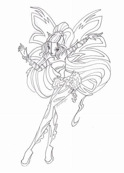 Winx Coloring Club Sirenix Daphne Pages Nymph