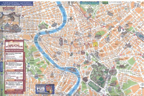 Street Map Of Rome Of Rome The Central Part Of Rome The