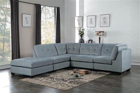 savarin sectional sofa gy  light grey fabric