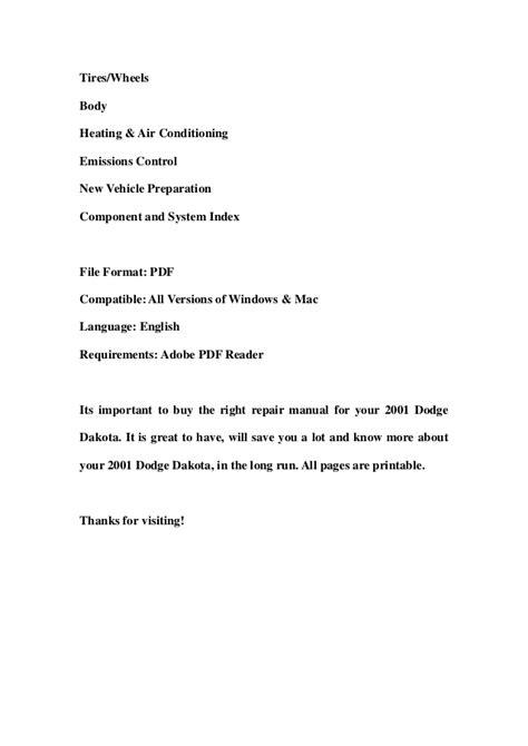 how to download repair manuals 2009 dodge dakota electronic valve timing 2001 dodge dakota service repair workshop manual download