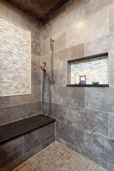 enhancing shower niches  decorative tile normandy