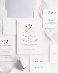 wreath monogram ribbon wedding invitations ribbon With wedding invitations with double envelopes
