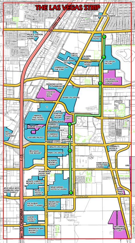 las vegas strip map strip map  las vegas city vidiani