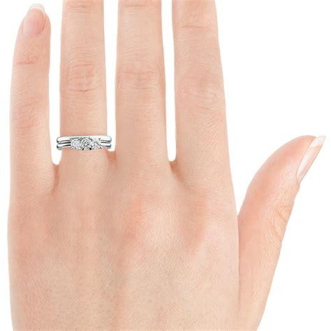 3 stone wedding ring friendly trilogy ring
