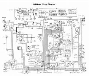 1954 Ford Car Wiring Diagram