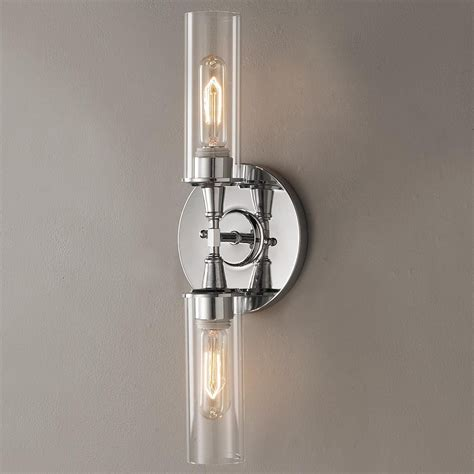 double bullet glass wall sconce loft house project