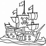 Pirate Ship Coloring Pages Drawing Ships Colouring Easy Simple Line Cruise Navy Drawings Printable Sheets Sunken Template Clipartmag Getdrawings Boat sketch template