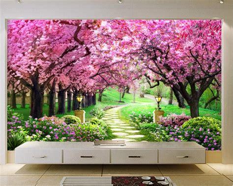 wallpaper mural fashion  european cherry tree garden