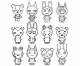 Crossing Animal Coloring Coloriage Fan Excellent Characters Coloringhome Colouring sketch template