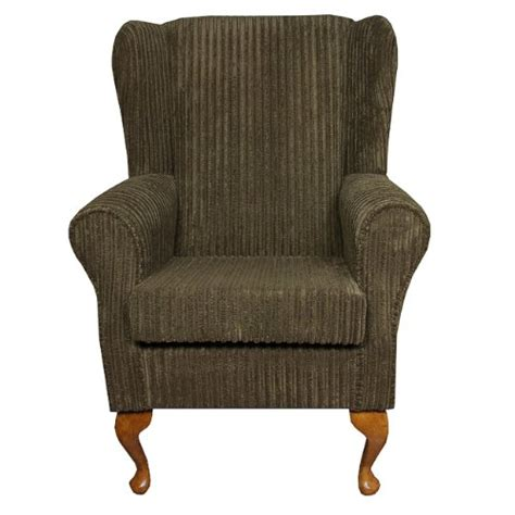 small westoe wingback armchair in a jumbo cord lizard