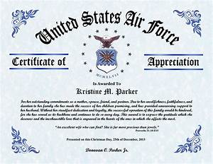 af certificate of appreciation template choice image With air force certificate of appreciation template