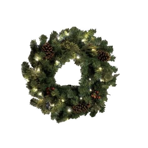 outdoor lighted 24 battery powered christmas wreath