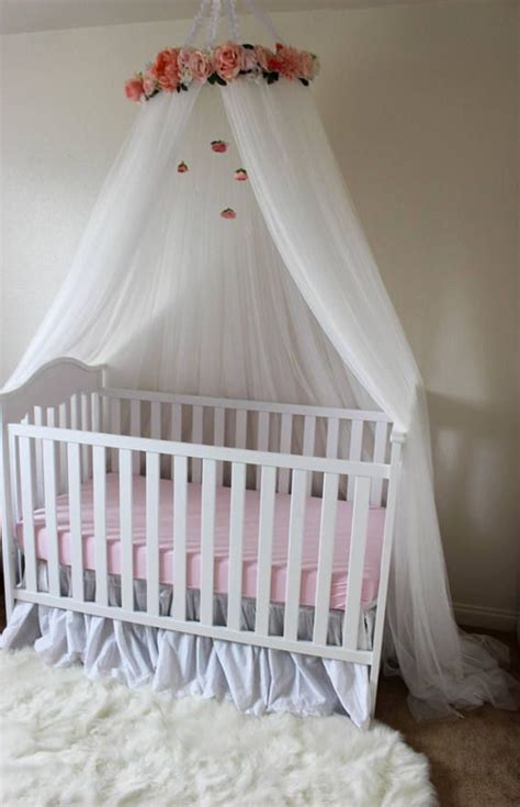 ella blue canopy floral crib canopy bed crown nursery decor teepee baby shower