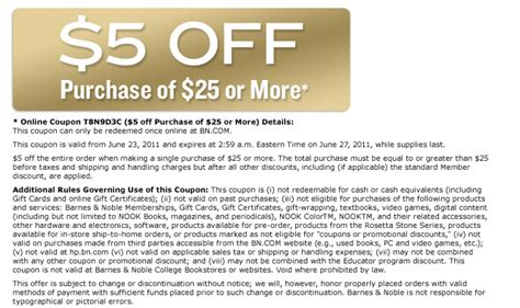 Barnes And Noble Coupon Thread Part 2