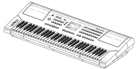 Drawn Instrument Keyboard Instrument
