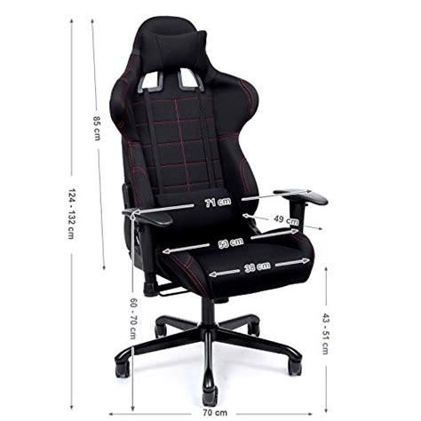 fauteuil de bureau gamer songmics chaise gamer fauteuil de bureau racing sport avec