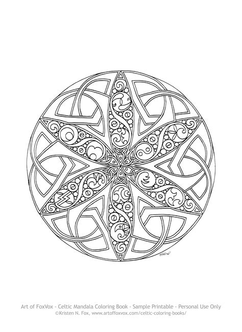 Printable Celtic Mandala Coloring Pages Bltidm