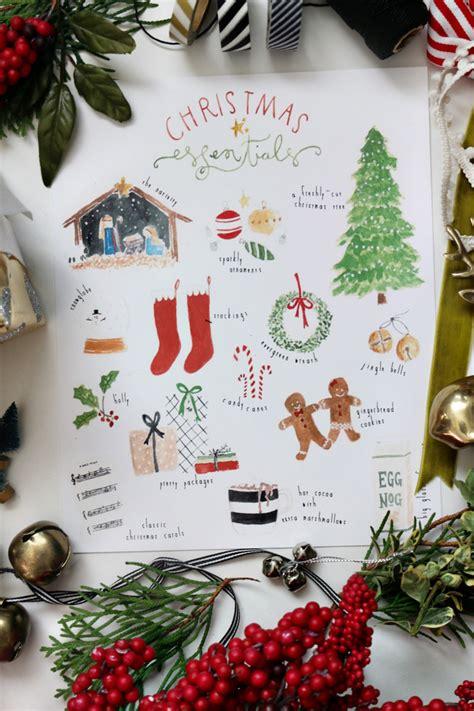 christmas essentials free art print jones design company