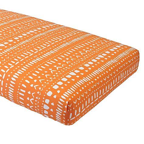 orange crib sheet organic orange tribal fitted crib sheet the land of nod