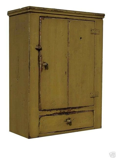 Primitive Cabinet by Primitive Wall Cabinet Cupboard Painted Country Early