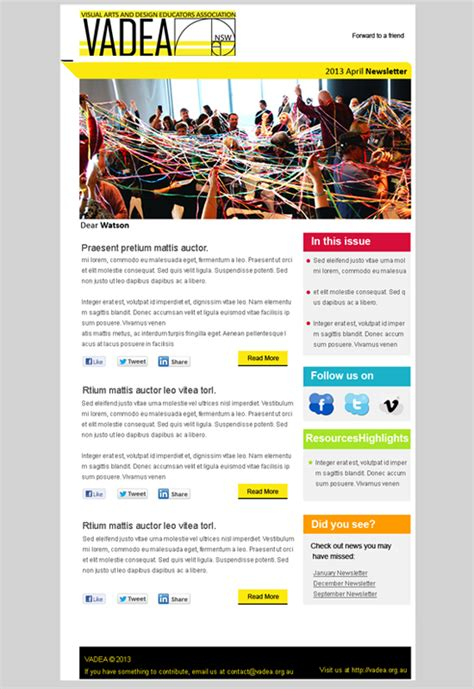 newsletter design hotswots digital agency sydney