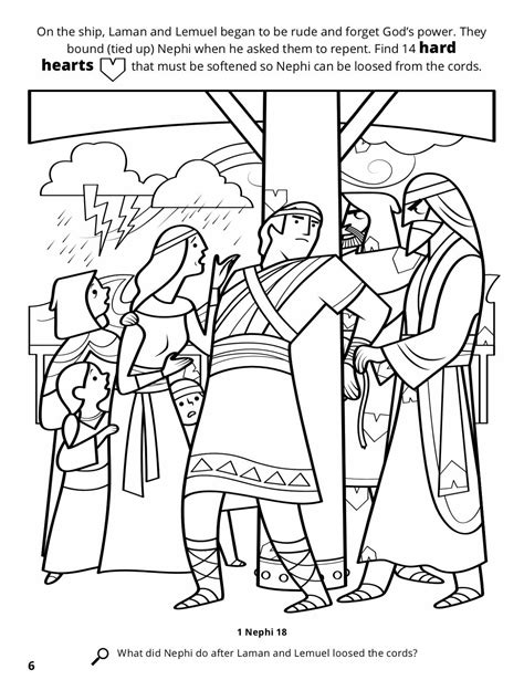 Book Of Mormon Coloring Pages Nephi 28 Images Book Of Mormon