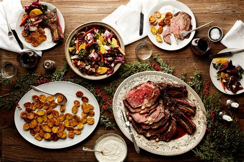 Follow our prime rib menu and prep plan for what to serve, and pull off this celebratory feast with minimum stress and maximum flavor! Easy Christmas Dinner Menu With Beef Rib Roast | Epicurious