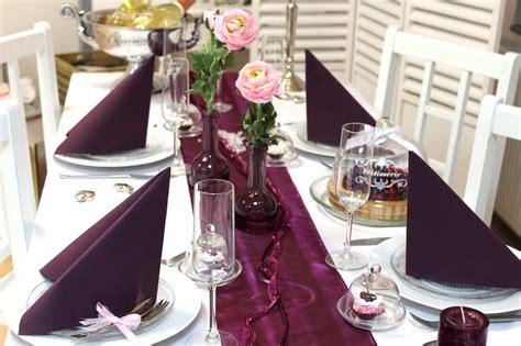 xl set hochzeit geburtstag tischdeko deko pflaume violet