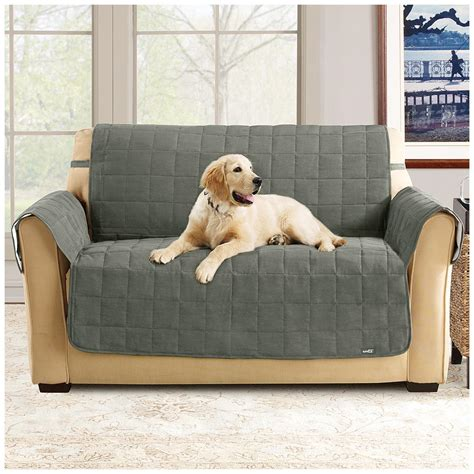 fit waterproof quilted suede sofa pet cover