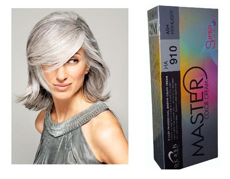 Dcash Master Cream Ha 910 Ash Gray Permanent Hair Dye